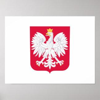 Polnisches Wappen Polens Poster