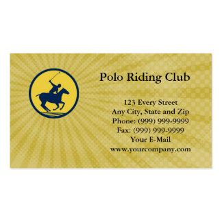 Polo-Reitverein-Visitenkarte Visitenkarten