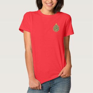 Polo-Shirt der gestickten Frauen des Besticktes T-Shirt