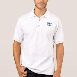 Polo-Shirt mit wellenartig bewegenden burgee u. Polo Shirt