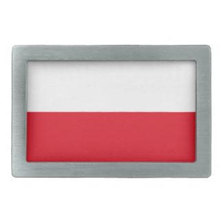 Polonian Flagge Rechteckige Gürtelschnalle