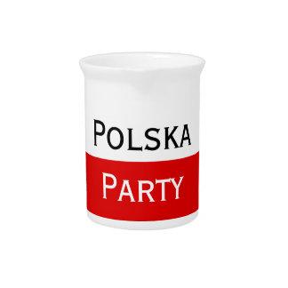 Polska polnische Flagge Getränke Pitcher