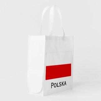 Polska polnische Flagge Wiederverwendbare Einkaufstasche