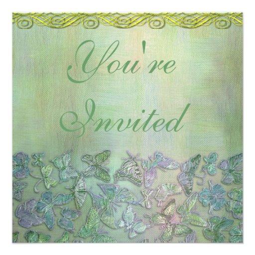 Polterabend-Schmetterlings-Einladung