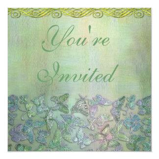 Polterabend-Schmetterlings-Einladung Quadratische 13,3 Cm Einladungskarte