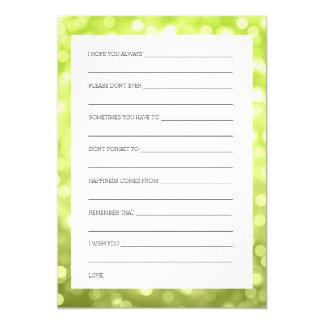 Polterabend wünscht Chartreuse Glitter-Lichter 12,7 X 17,8 Cm Einladungskarte