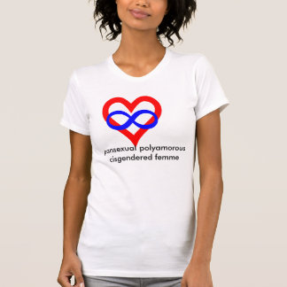 Polyamorous pansexual cisgendered femme T-Shirt
