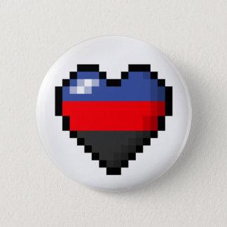 Polyamorous Pixel-Herz Runder Button 5,7 Cm