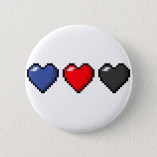 Polyamorous Pixel-Herzen Runder Button 5,7 Cm
