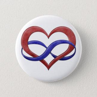 Polyamory Stolz-Unendlichkeits-Herz Runder Button 5,1 Cm