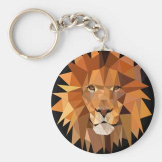 Polygon-Löwe-Gewohnheit Schlüsselanhänger