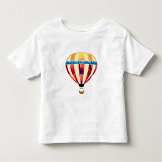 Polygon-Mosaik-Heißluft-Ballon im Rot u. im Gelb Kleinkinder T-shirt