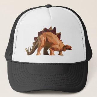 polygon triangle graphic art dinosaur stegosaurus truckerkappe