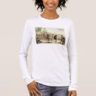 Polynesische Eingeborene, welche die Nasen, Langarm T-Shirt