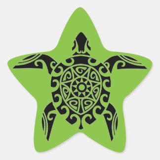 Polynesische Stammes- Schildkröte entwarf Sternaufkleber