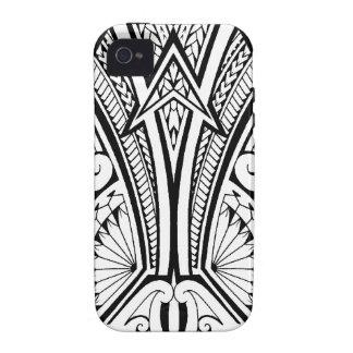 Polynesische Stammes- Tätowierung mit mutigen iPhone 4 Hülle