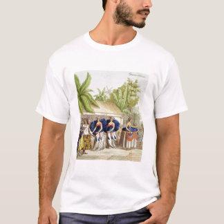 Polynesische Tänzerinnen, graviert von A. Bernati T-Shirt
