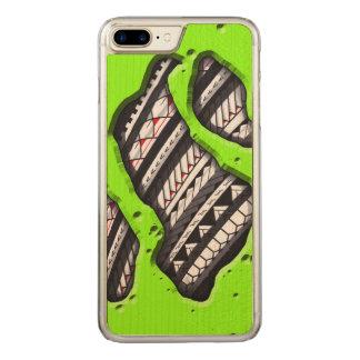 Polynesische Tätowierung unter Ihre Haut Carved iPhone 8 Plus/7 Plus Hülle