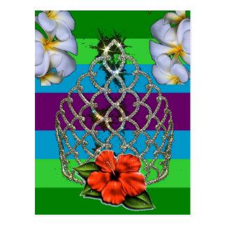 Polynesischer Diva-Stolz Postkarte