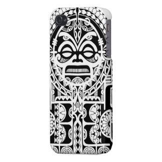 Polynesischer Stammes- Tätowierungsentwurf mit tik iPhone 4 Schutzhülle