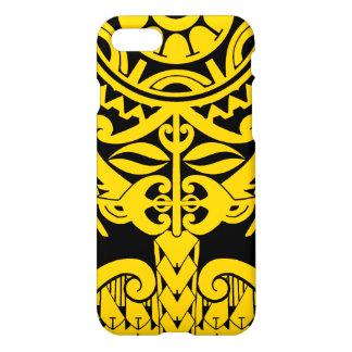 Polynesischer tiki Tätowierungs-Mandalaentwurf iPhone 8/7 Hülle