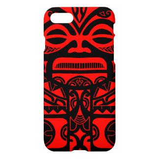 Polynesisches Gesicht des Tiki iPhone 8/7 Hülle