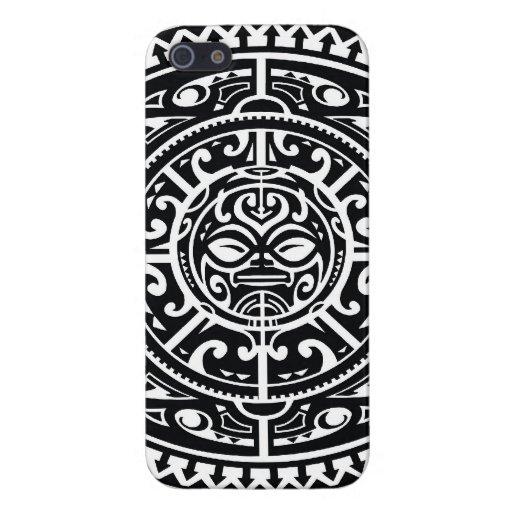 Polynesisches Stammes- Gesicht 1 iPhone 5 Cover