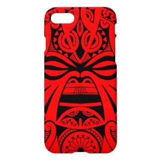 Polynesisches tiki Maskentätowierungs-Totemgesicht iPhone 8/7 Hülle