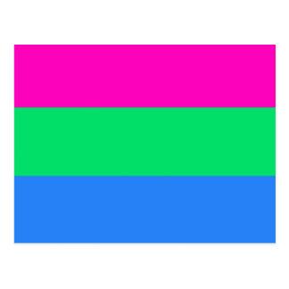 Polysexual Stolzflagge Postkarte