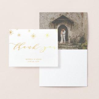 Pom Pom danken moderne Skript-Hochzeit Ihnen Folienkarte