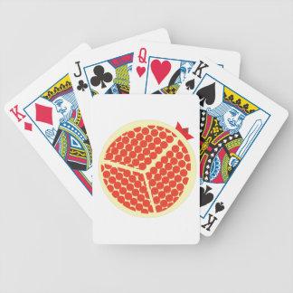 pomegrante im Innere Bicycle Spielkarten