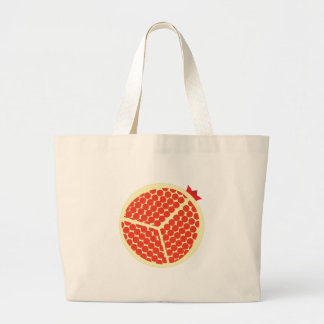 pomegrante im Innere Jumbo Stoffbeutel