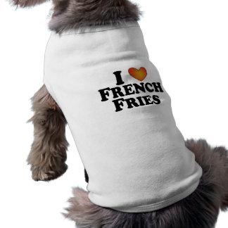Pommes-Frites I (Herz) - HundeT - Shirt