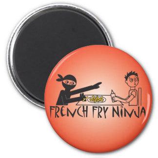 Pommes-Frites Ninja Runder Magnet 5,1 Cm