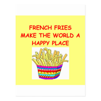 Pommes-Frites Postkarte