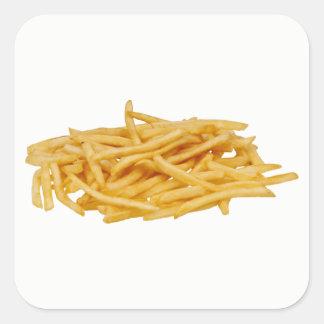 Pommes-Frites Quadratischer Aufkleber