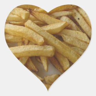 Pommes-Fritesherz-Aufkleber Herz-Aufkleber