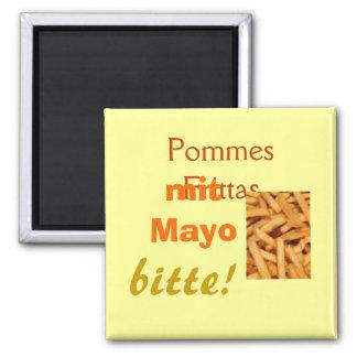 Pommes Frittas Magnet Quadratischer Magnet