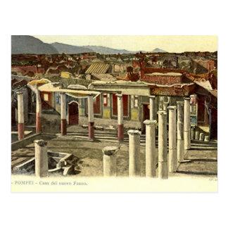 Pompeji, allgemeine Ansicht der Stadt Postkarte