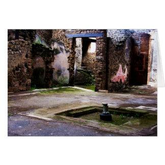Pompeji - inneres Gericht alten Pompeiian Hauses Karte