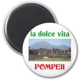 Pompeji Italien Runder Magnet 5,7 Cm