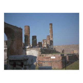 Pompeji, Pillared Gebäude nahe dem Forum Postkarte