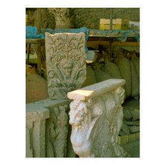 Pompeji, Replik der alten Artefakte Postkarte