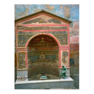 Pompeji, Schrein für die Götter des Herds Postkarte