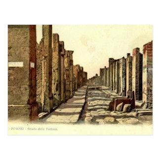 Pompeji, Straße mit Sprungbrett Postkarte