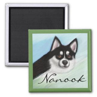 Pomsky Hundemagnet fertigen besonders an Quadratischer Magnet
