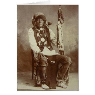 Ponca weiße Eagle Grußhauptsächlichkarte Grußkarte