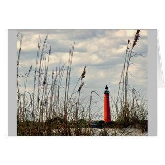 Ponce Einlass, Florida - Leuchtturm Karte