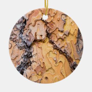 Ponderosa Kiefernbarke, Washington Rundes Keramik Ornament