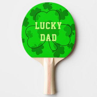 Pong das Klingeln des Vatis hellgrünes glückliches Tischtennis Schläger